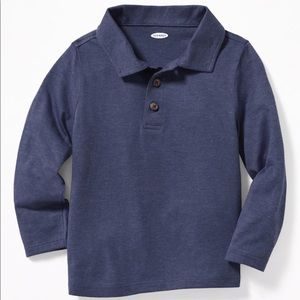NWT Old Navy Long Sleeve Polo Shirt Top 4T